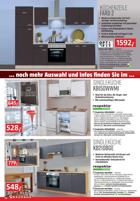 Full Size of Singleküche Bauhaus Flugblatt 2122019 31122019 Rabatt Kompass Mit Kühlschrank Fenster E Geräten Wohnzimmer Singleküche Bauhaus