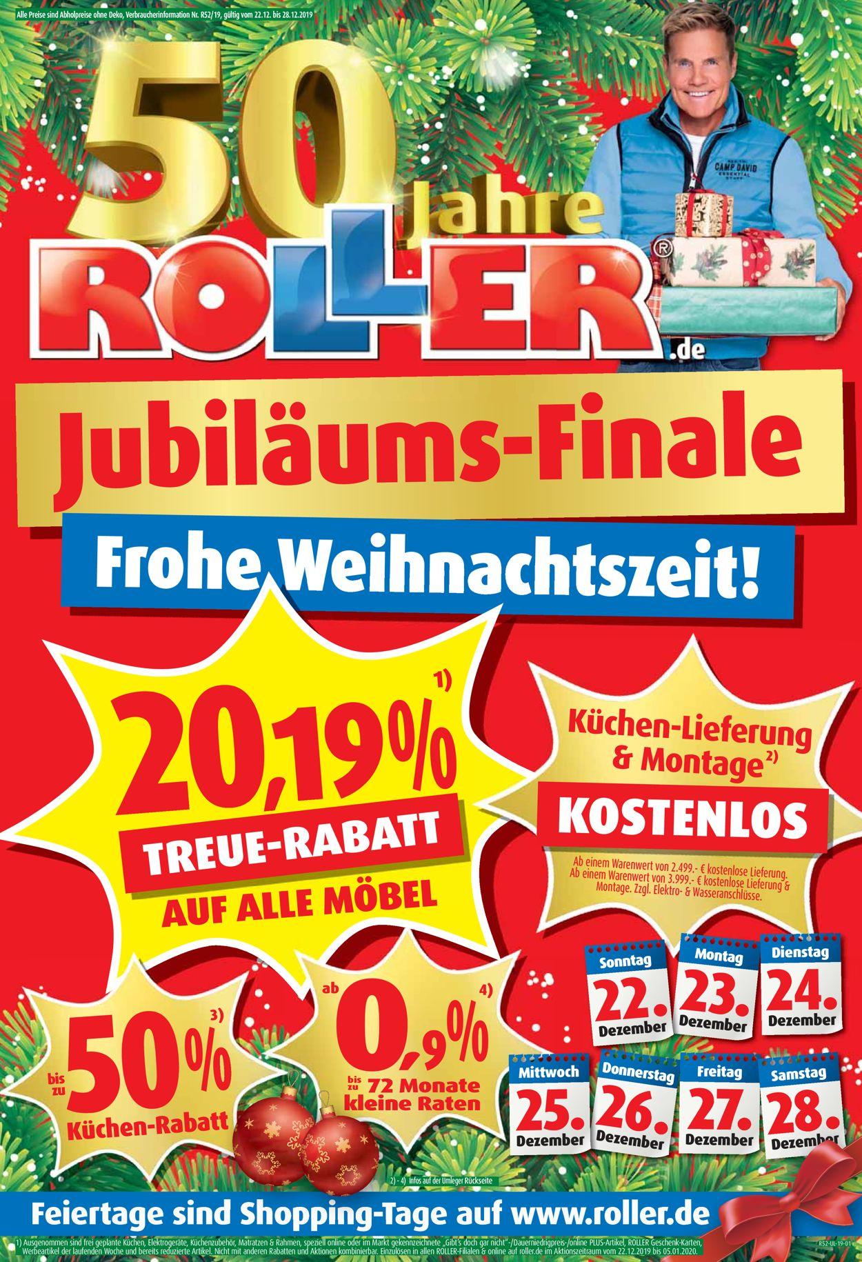 Full Size of Küchen Roller Weihnachtsprospekt 2019 Aktueller Prospekt 2212 2812 Regale Regal Wohnzimmer Küchen Roller