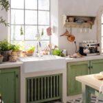 Kleine Landhausküche Kchenfronten Erneuern Kleiner Aufwand Küche Einrichten Esstische Kleines Bad Renovieren Sofa Wohnzimmer Regal Weiß Grau Einbauküche Wohnzimmer Kleine Landhausküche