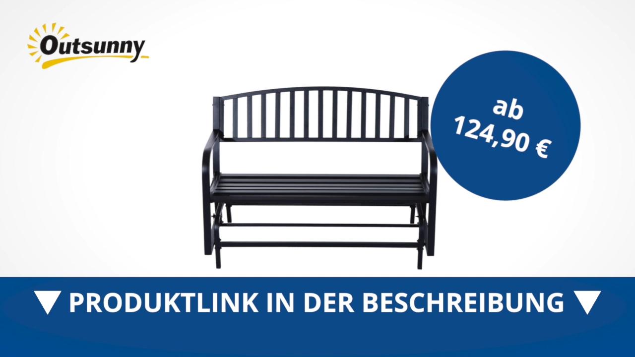 Full Size of Gartenschaukel Metall Outsunny Schaukelbank Gartenbank Sitzbank 2 Regal Weiß Bett Regale Wohnzimmer Gartenschaukel Metall