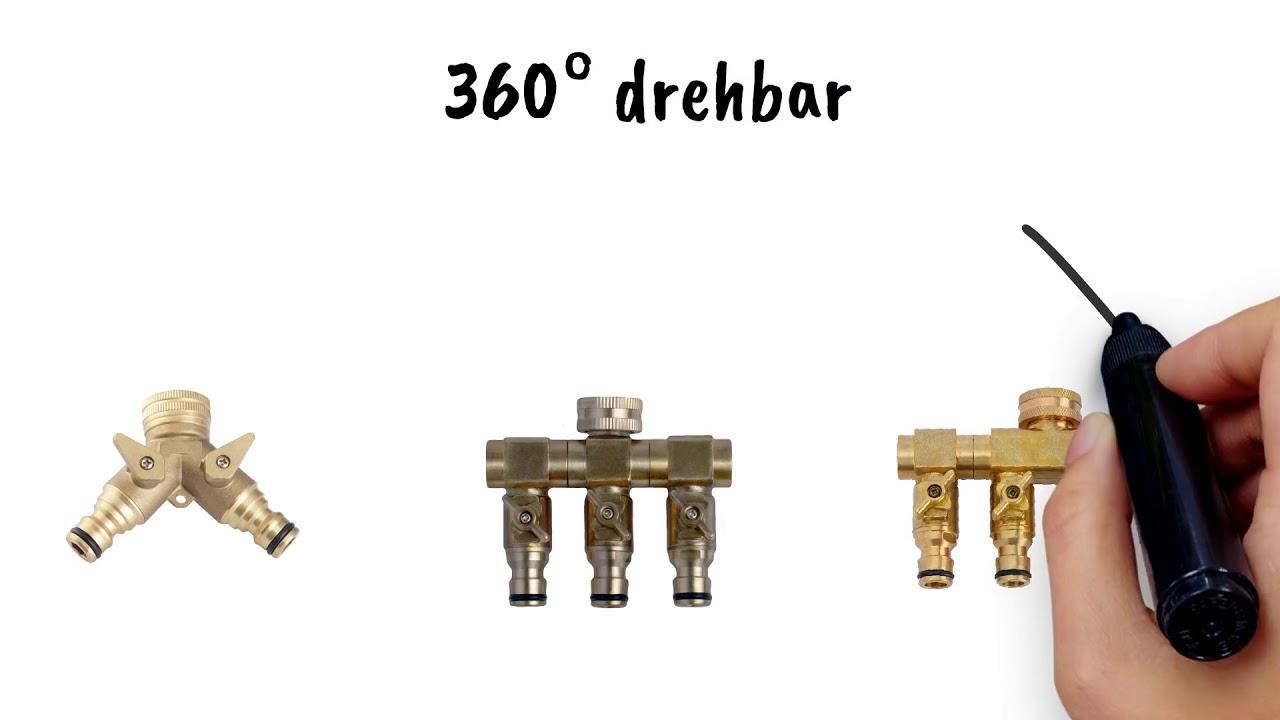 Full Size of Wasserhahn Anschluss Upp Wasserverteiler Fr 1 2 3 4 Küche Für Wandanschluss Bad Wohnzimmer Wasserhahn Anschluss