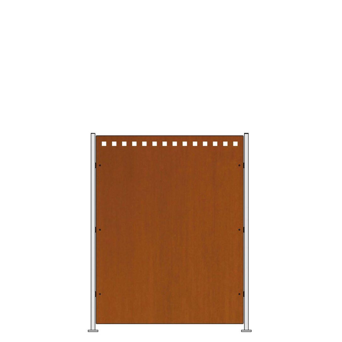 Large Size of Sichtschutz Metall Rost Sichtschutzzaun Quadro Bausatz Edelrost Hhe 95 Cm Kaufen Bei Obi Betten Mit Matratze Und Lattenrost 140x200 Bett 120x200 Regale Regal Wohnzimmer Sichtschutz Metall Rost