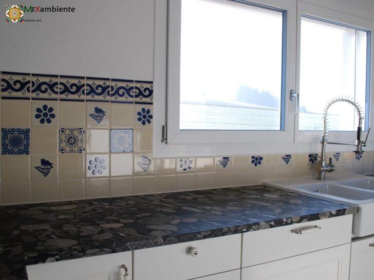 Medium Size of Küche Blau Mexikanische Fliesen Kche Fliesenspiegel Bunte Kacheln Muster Was Kostet Eine Neue Wandregal Landhaus Wasserhähne Pendeltür Hochglanz Weiss Wohnzimmer Küche Blau