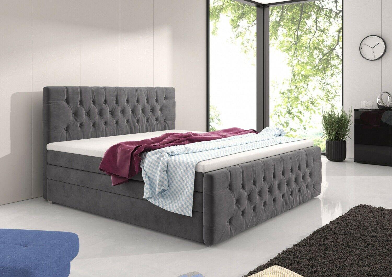 Full Size of Boxspringbett Samt Chester Online Kaufen Bei Wohnenluxusde Schlafzimmer Set Mit Sofa Wohnzimmer Boxspringbett Samt