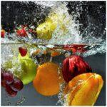 Glasbild Frchte Im Und Unter Wasser Splashing Fruits 50 Cm Glasbilder Küche Bad Küchen Regal Wohnzimmer Küchen Glasbilder