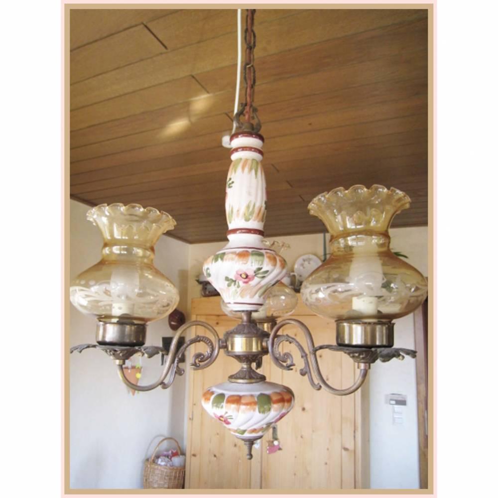 Full Size of Vintage Deckenleuchte Handgemalte Aus Keramik Mit Deckenleuchten Wohnzimmer Led Bad Bett Schlafzimmer Modern Küche Badezimmer Wohnzimmer Vintage Deckenleuchte