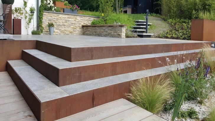 Medium Size of Holzlege Cortenstahl Scala Gartentreppen Aus Metall Wohnzimmer Holzlege Cortenstahl