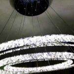 Deckenlampe Led Dimmbar Wohnzimmer Deckenlampe Led Dimmbar 50w 2 Ringe Kristall Deckenleuchte Farbtemperatur Leder Sofa Schlafzimmer Küche Bad Wildleder Lampen Wohnzimmer