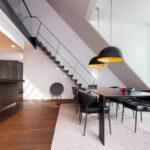 Dachgeschosswohnung Einrichten Wohnzimmer Dachgeschosswohnung Einrichten Umbau Einer Muenchenarchitektur Badezimmer Kleine Küche