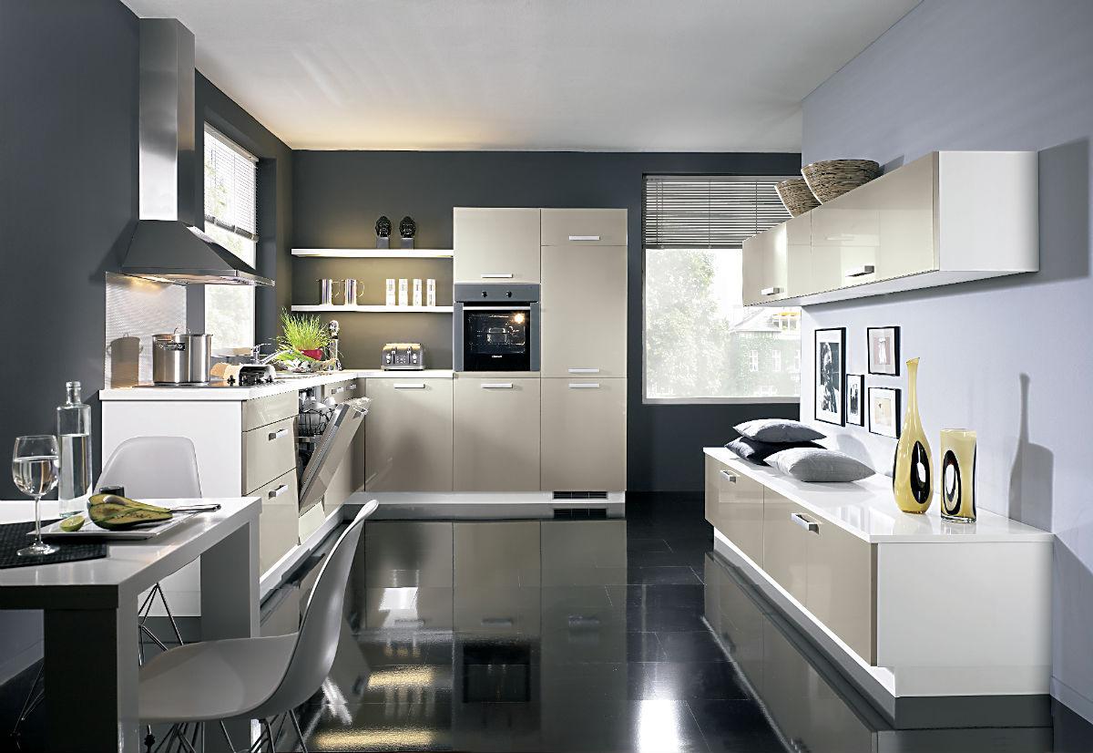 Full Size of Alno Küchen Flash Hochglanz Kche Mit Elektrogerten Und Einbausple Küche Regal Wohnzimmer Alno Küchen