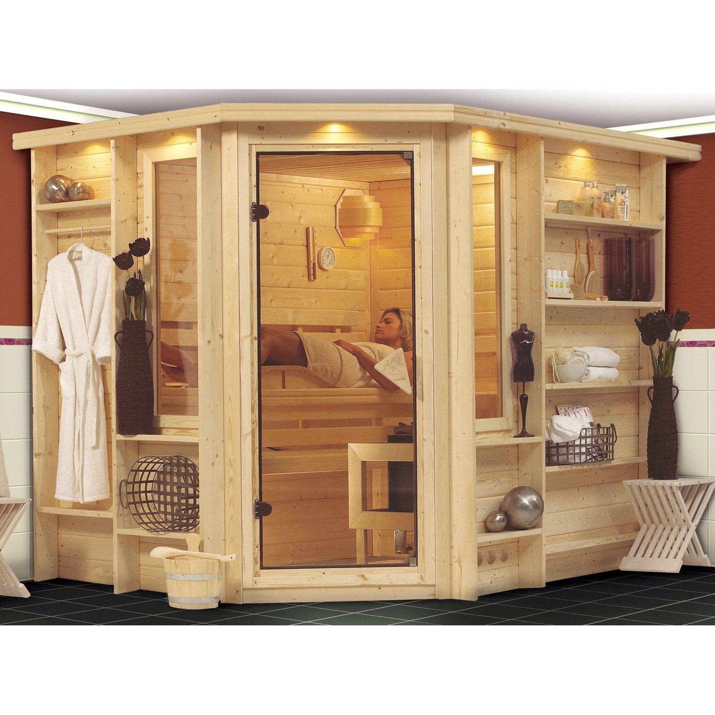 Full Size of Karibu Sauna Risa 40 Mm Mit Eckeinstieg Inkl Ganzglastr Und Schüco Fenster Kaufen Küche Ikea Betten 140x200 Velux Gebrauchte Günstig Outdoor Garten Pool Wohnzimmer Sauna Kaufen