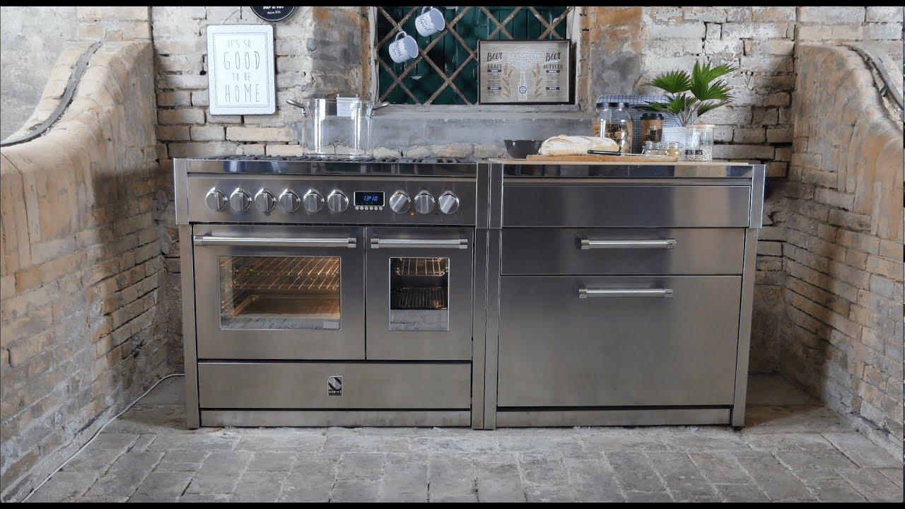 Full Size of Modulküchen Steel Cucine Genesi Standherde Und Modulkchen Range Cooker Wohnzimmer Modulküchen