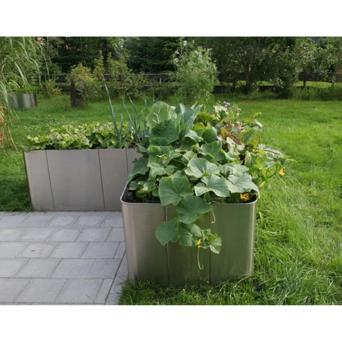 Large Size of Edelstahl Hochbeet Corner 163 50cm Hhe Garten Edelstahlküche Gebraucht Outdoor Küche Wohnzimmer Hochbeet Edelstahl
