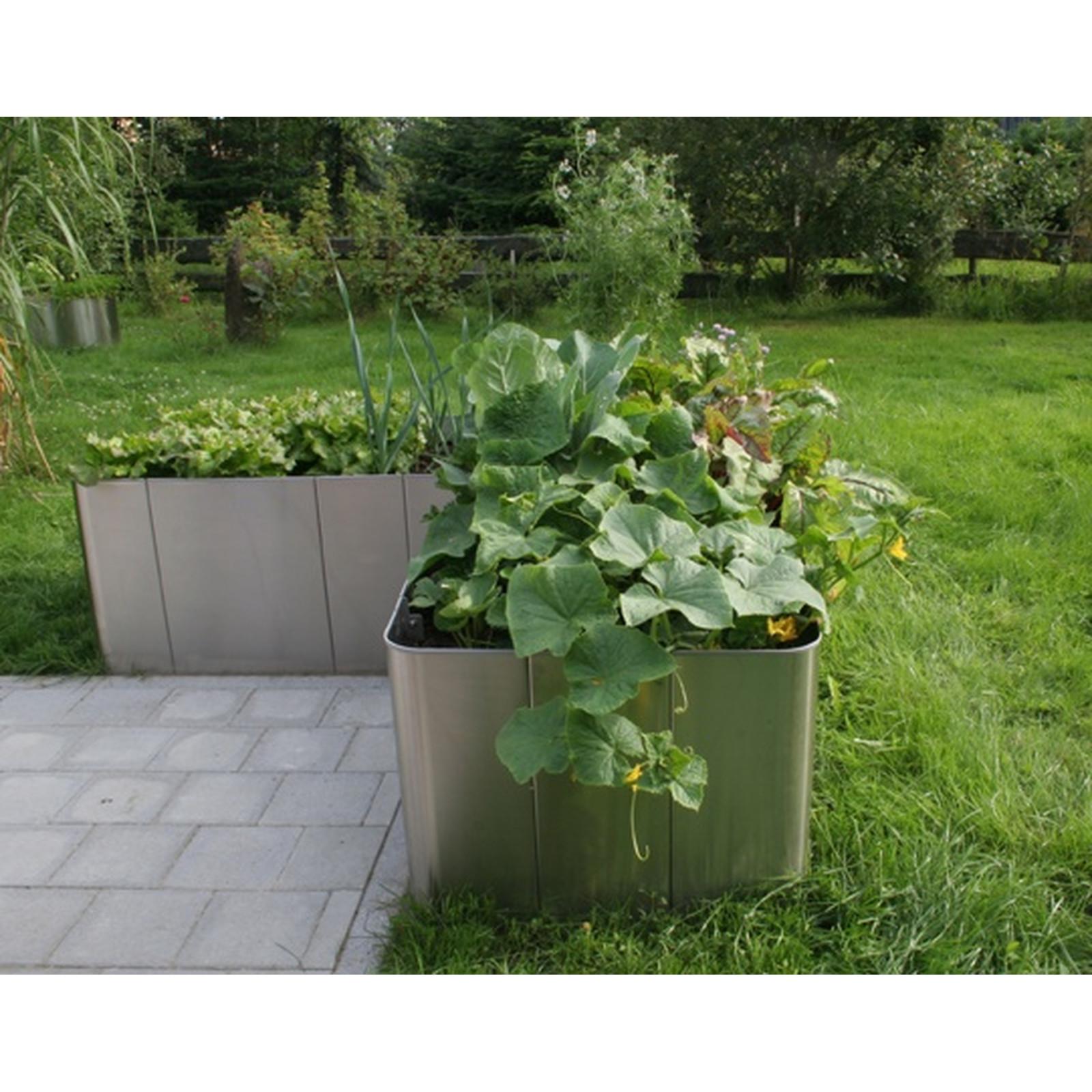 Full Size of Edelstahl Hochbeet Corner 163 50cm Hhe Garten Edelstahlküche Gebraucht Outdoor Küche Wohnzimmer Hochbeet Edelstahl