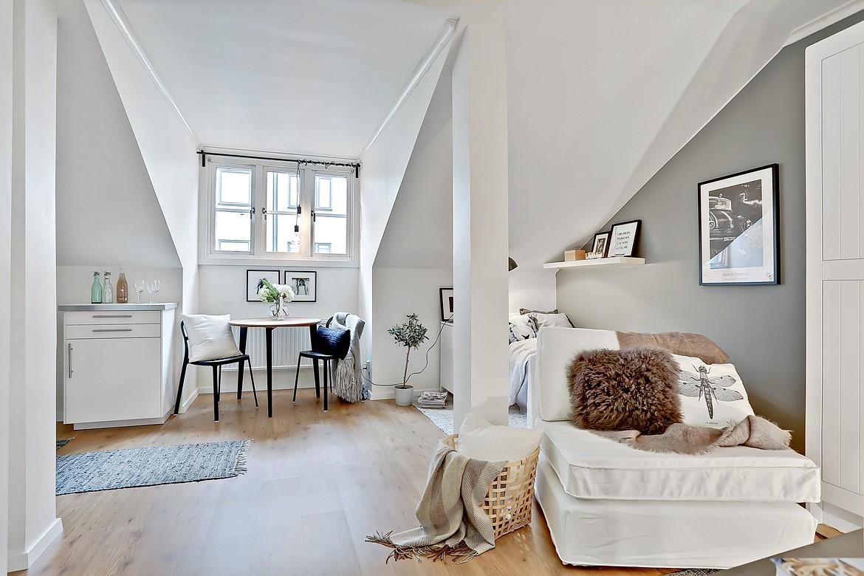Full Size of Dachgeschosswohnung Einrichten Kleine Aber Feine 1 Zimmer Wohnung Designs2love Küche Badezimmer Wohnzimmer Dachgeschosswohnung Einrichten