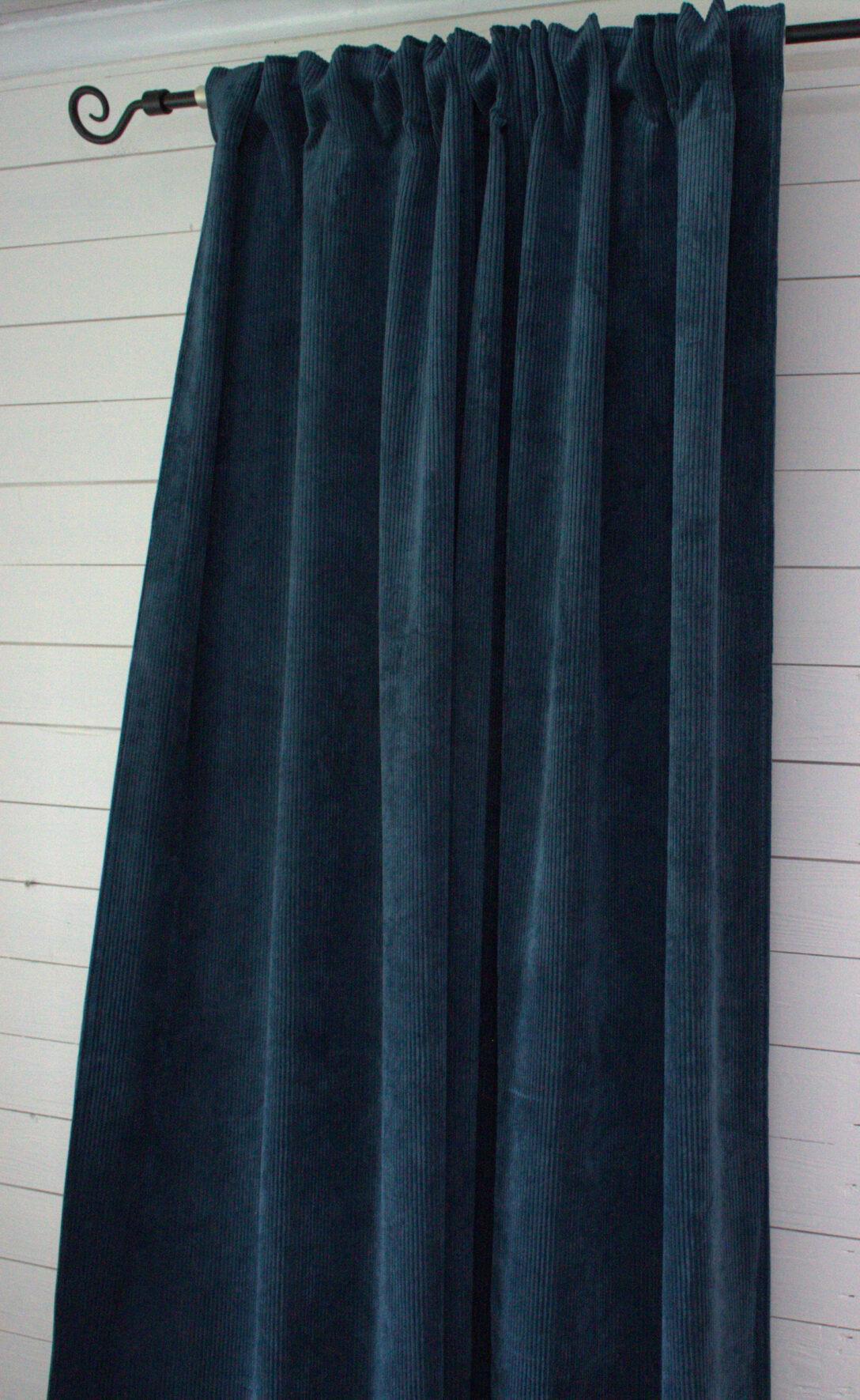 Large Size of Vorhang Suna Samt Kord Petrol 140x250 Cm 2 Stck Blickdicht Scheibengardinen Küche Wohnzimmer Scheibengardinen Blickdicht