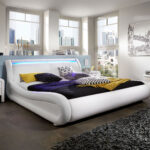 Polsterbett 200x220 200 220 Cm Wei Clip Led Gnstig Betten Bett Wohnzimmer Polsterbett 200x220