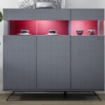 Highboard Günstig Glamour Carbonoptik Stoff Rot Italien Designermbel Günstige Küche Mit E Geräten Schlafzimmer Komplett Chesterfield Sofa Betten 180x200 Wohnzimmer Highboard Günstig