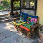 Paletten Zaun Wohnzimmer Unsere Bauten Im Garten Paletten Regal Bett 140x200 Aus Kaufen Zaun Regale Europaletten