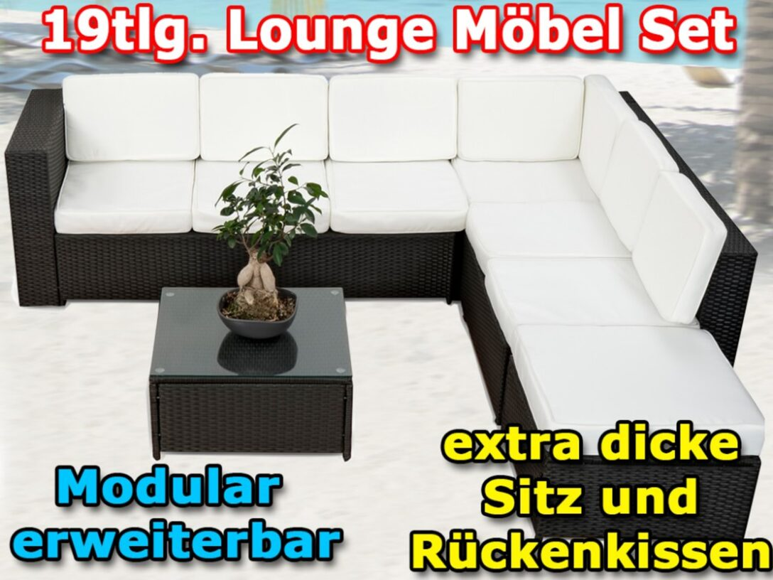 Large Size of 19tlg Gartenmbel Loungeset Lounge Garten Garnitur Schwarz Günstige Schlafzimmer Essgruppe Aufbewahrungsbox Sitzbank Sofa Und Landschaftsbau Berlin Komplett Wohnzimmer Garten Lounge Günstig