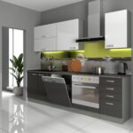 Küche Weiß Grau Esstisch Oval Regal Holz Wanddeko Eckschrank Einbauküche Mit E Geräten Fototapete Mintgrün Gardinen Für Die Komplettküche Erweitern Wohnzimmer Küche Weiß Grau