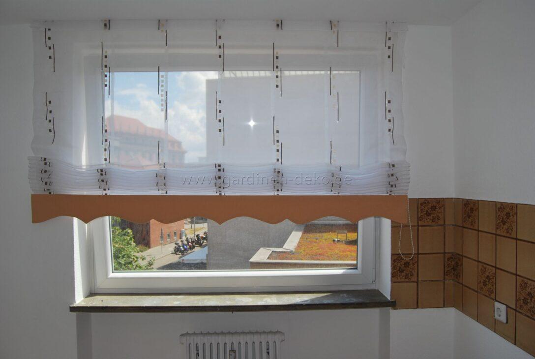 Large Size of Küchenfenster Gardinen Hellbrauner Ziehvorhang Mit Wellenschabracke Fr Kche Http Schlafzimmer Für Die Küche Wohnzimmer Fenster Scheibengardinen Wohnzimmer Küchenfenster Gardinen