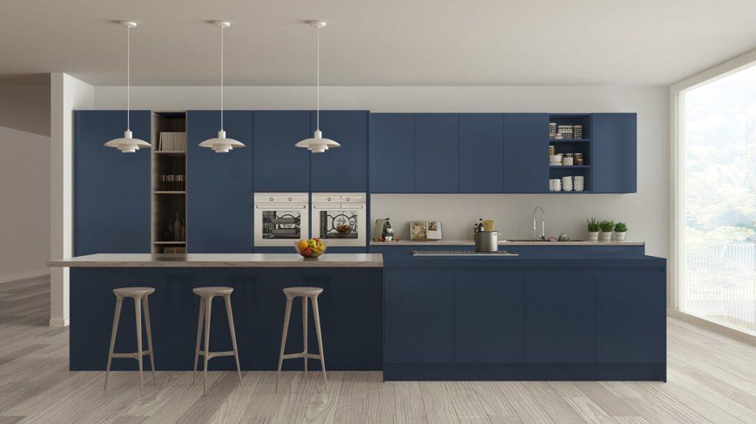 Large Size of Küche Blau Blaue Kchen Kchendesignmagazin Lassen Sie Sich Inspirieren Glaswand Holzküche Wasserhähne Sitzgruppe Apothekerschrank Singelküche Blaues Sofa Wohnzimmer Küche Blau