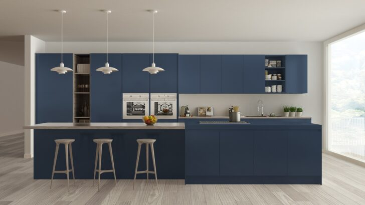 Medium Size of Küche Blau Blaue Kchen Kchendesignmagazin Lassen Sie Sich Inspirieren Glaswand Holzküche Wasserhähne Sitzgruppe Apothekerschrank Singelküche Blaues Sofa Wohnzimmer Küche Blau