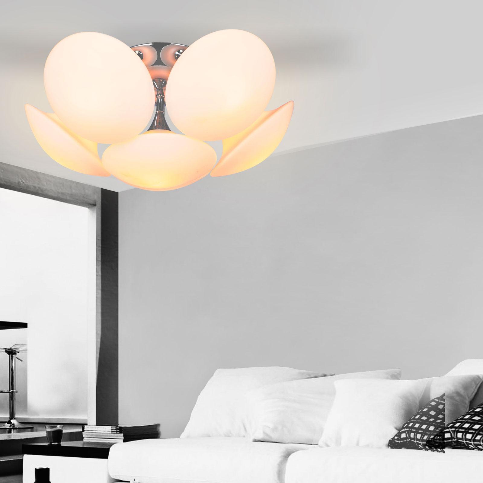 Full Size of Design Led Deckenlampe 6 Falmmig Deckenleuchte Wohnzimmer Glas Vorhänge Tapete Vinylboden Gardinen Für Decke Landhausstil Kunstleder Sofa Weiß Lampe Küche Wohnzimmer Deckenlampe Led Wohnzimmer