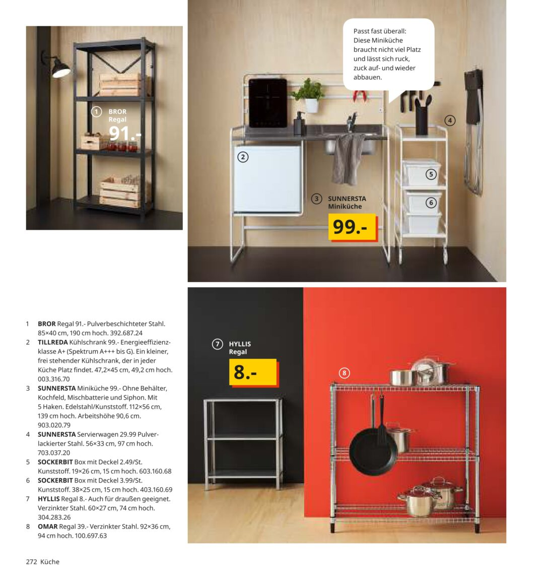 Large Size of Sunnersta Minikche Im Angebot Bei Ikea Kupinode Miniküche Mit Kühlschrank Roller Regale Stengel Wohnzimmer Roller Miniküche