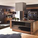 Dunkle Freistehende Küche Wohnzimmer Kücheninsel Freistehend
