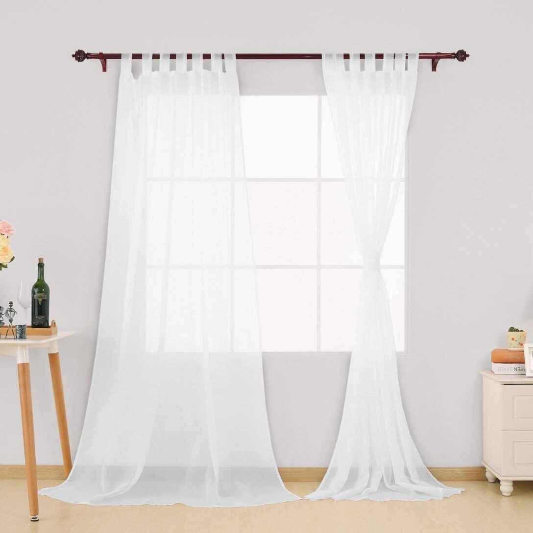 Large Size of Gardinen Doppelfenster Amazonde Deconovo Schlaufenschal Transparent Vorhang Für Die Küche Scheibengardinen Fenster Wohnzimmer Schlafzimmer Wohnzimmer Gardinen Doppelfenster