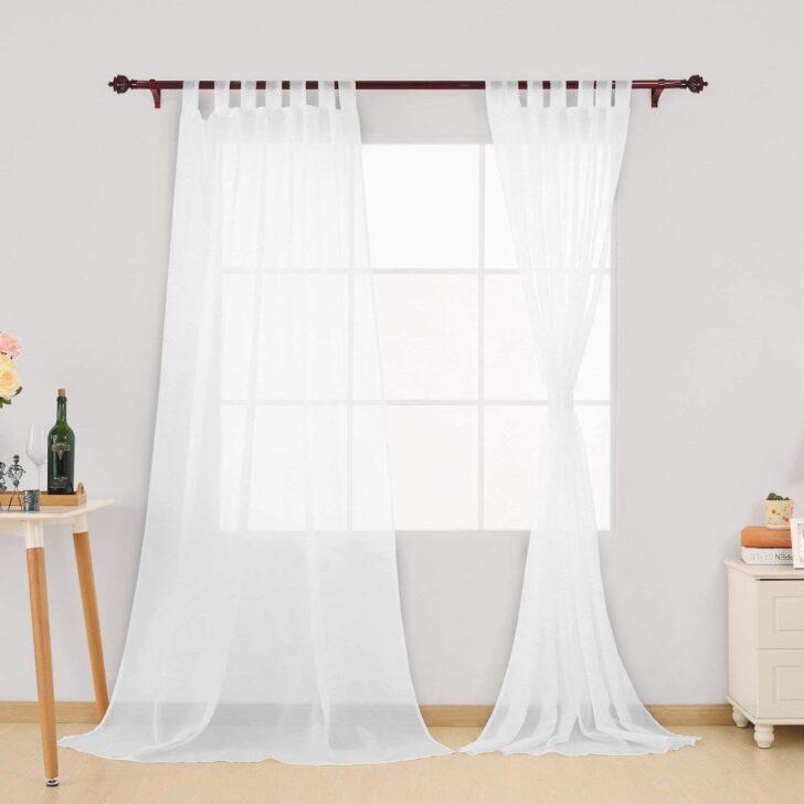 Medium Size of Gardinen Doppelfenster Amazonde Deconovo Schlaufenschal Transparent Vorhang Für Die Küche Scheibengardinen Fenster Wohnzimmer Schlafzimmer Wohnzimmer Gardinen Doppelfenster