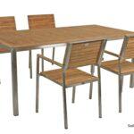 Garten Holztisch Teak Tisch 180cm Gartentisch Holz Edelstahl Zaun Lounge Möbel Kinderspielhaus Fussballtor Wasserbrunnen überdachung Schwimmbecken Schaukel Wohnzimmer Garten Holztisch