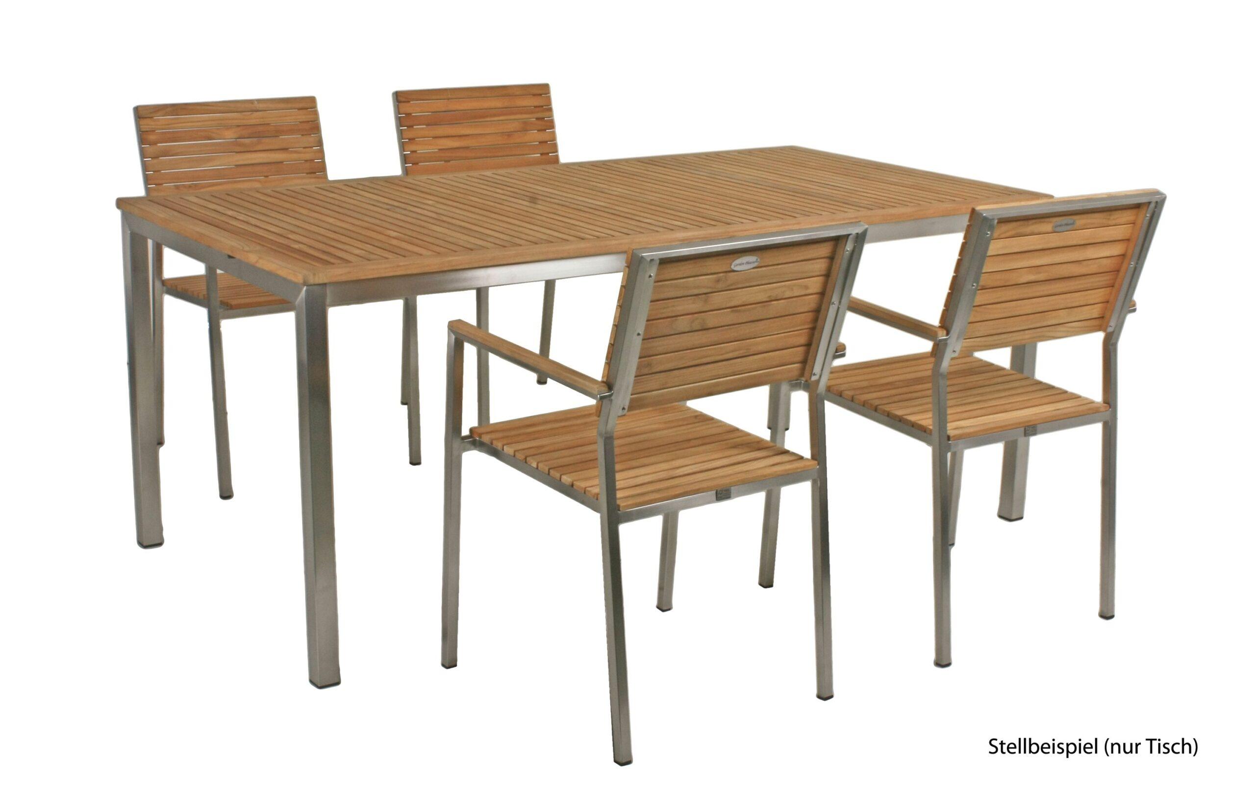Full Size of Garten Holztisch Teak Tisch 180cm Gartentisch Holz Edelstahl Zaun Lounge Möbel Kinderspielhaus Fussballtor Wasserbrunnen überdachung Schwimmbecken Schaukel Wohnzimmer Garten Holztisch