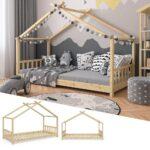 Bett Design Holz Vitalispa Kinderbett Hausbett 90x200cm Natur Rauch Betten Mit Bettkasten 160x200 Einzelbett Schlafzimmer Komplett Massivholz Wildeiche Wohnzimmer Bett Design Holz