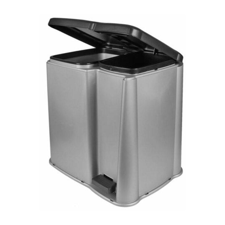 Doppel Mülleimer Abfalleimer Treteimer Mlleimer Abfallsammler Real Küche Einbau Doppelblock Wohnzimmer Doppel Mülleimer