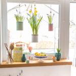 Küche Fenster Wohnzimmer Küche Fenster Frhling Am Mit Upcycling Blumenampeln Leelah Loves Wandpaneel Glas Rollos Innen Einbauen Led Panel Schwarze Waschbecken Blende Komplette