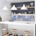Fliesenaufkleber Set 20 Mediterrane Fliesen Fliesensticker Modulküche Led Beleuchtung Küche Abfallbehälter Hochglanz Einbauküche L Form Umziehen Ikea Wohnzimmer Fliesen Küche