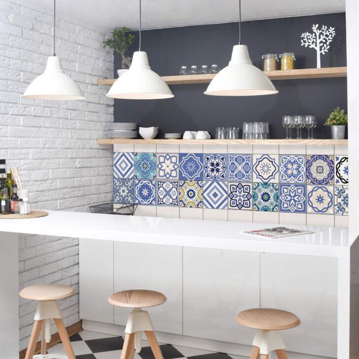 Medium Size of Fliesenaufkleber Set 20 Mediterrane Fliesen Fliesensticker Modulküche Led Beleuchtung Küche Abfallbehälter Hochglanz Einbauküche L Form Umziehen Ikea Wohnzimmer Fliesen Küche