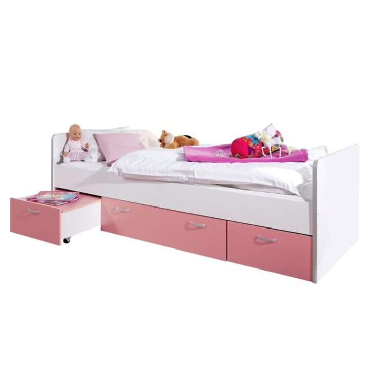 Medium Size of Bett Mit Stauraum 90x200 Bonny Kinderbett Cm Rosa Sofa Recamiere Metall Rattan 180x200 Bettkasten Grau Esstisch 4 Stühlen Günstig Ausklappbar Ikea Wohnzimmer Bett Mit Stauraum 90x200