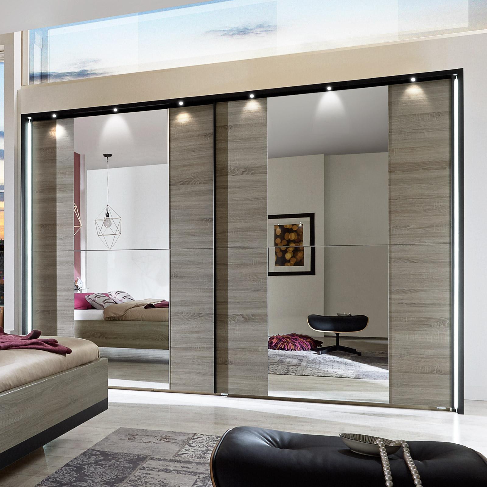 Full Size of Moderner Schlafzimmerschrank Mit Schiebetren Und Spiegel Korba Wohnzimmer Schlafzimmerschränke