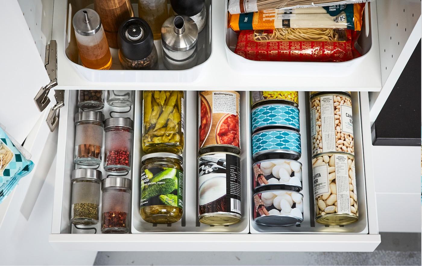 Full Size of Ikea Aufbewahrung Küche Organisationsideen Fr Deinen Vorratsschrank Deutschland Wandbelag Inselküche Abverkauf Beistellregal Auf Raten Aufbewahrungsbehälter Wohnzimmer Ikea Aufbewahrung Küche