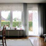 Scheibengardinen Balkontür Küche Wohnzimmer Scheibengardinen Balkontür