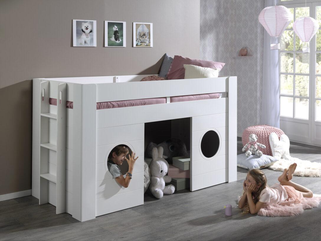 Large Size of Halbhohes Hochbett Bett Freya Wei 90x200 Cm Online Bei Roller Kaufen Wohnzimmer Halbhohes Hochbett