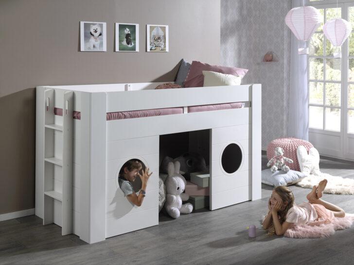 Medium Size of Halbhohes Hochbett Bett Freya Wei 90x200 Cm Online Bei Roller Kaufen Wohnzimmer Halbhohes Hochbett
