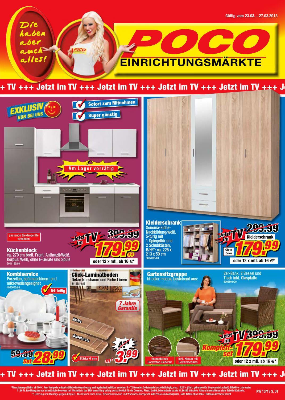 Full Size of Küchenzeile Poco Prospekt 23 27 Mrz 2013 By Promoprospektede Big Sofa Betten Küche Schlafzimmer Komplett Bett 140x200 Wohnzimmer Küchenzeile Poco