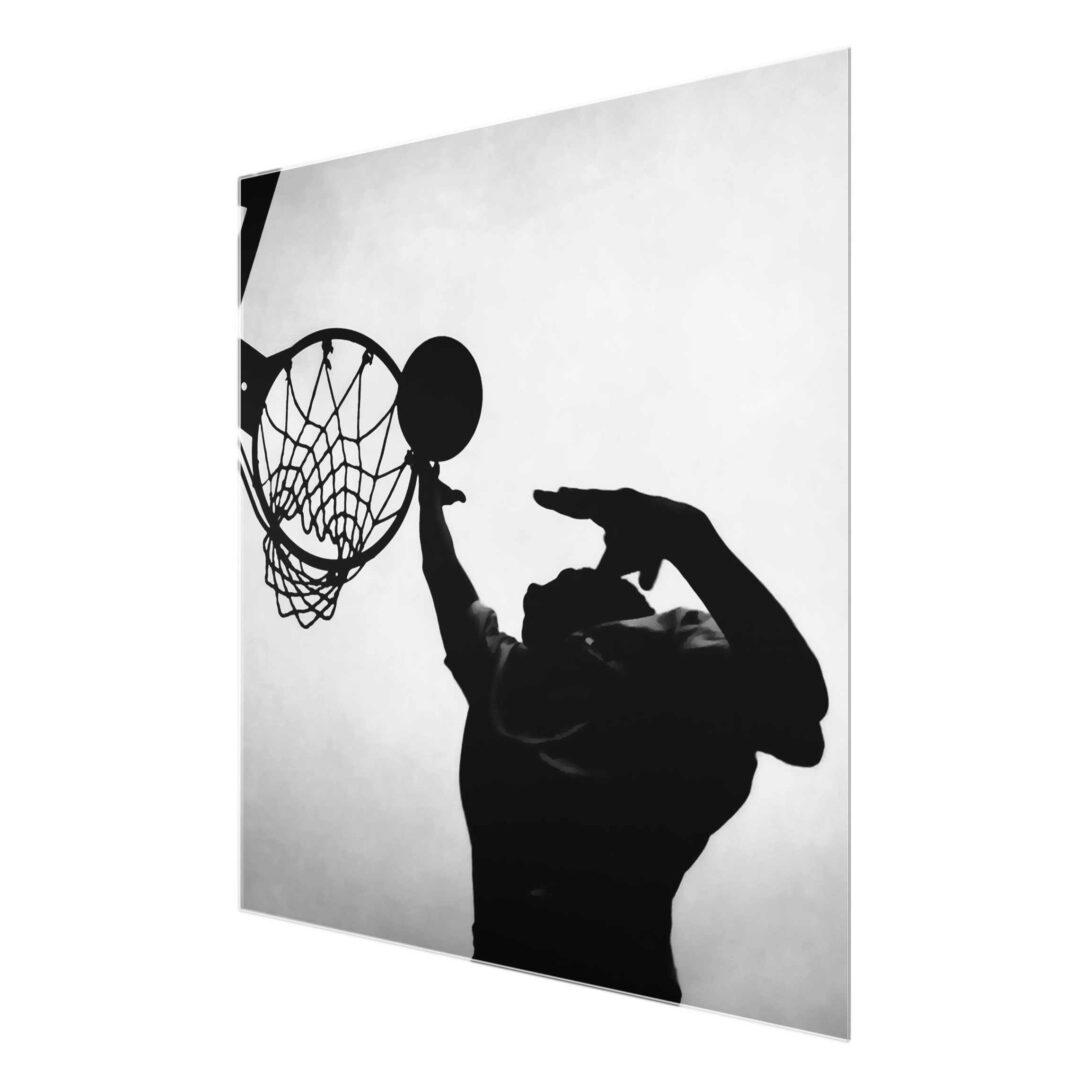 Large Size of Glasbild 120x50 Basketball Schwarz Wei Glasbilder Bad Küche Wohnzimmer Glasbild 120x50