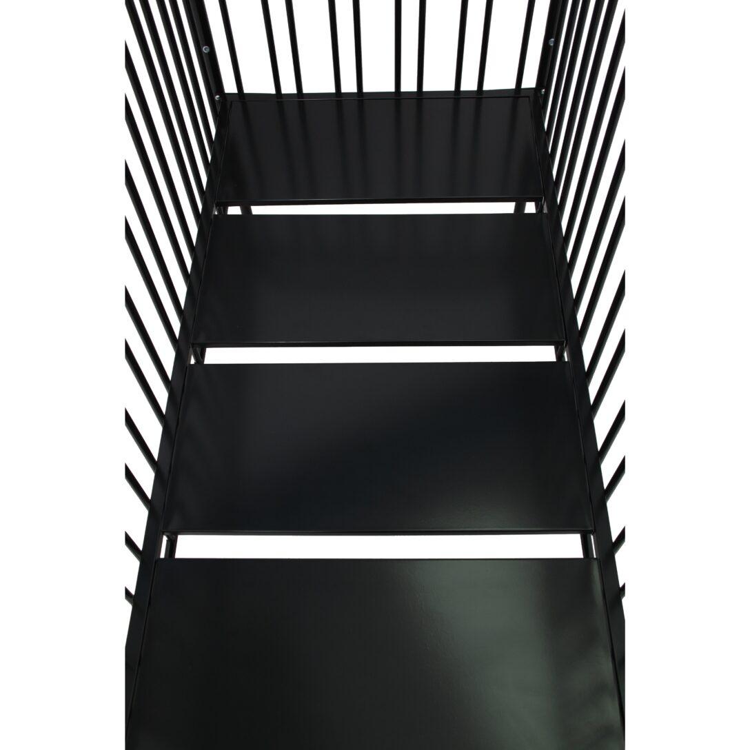 Large Size of Babybett Schwarz Kinderbett Gitterbett Aus Metall Polini 150 Schwarze Küche Schwarzes Bett Weiß 180x200 Wohnzimmer Babybett Schwarz