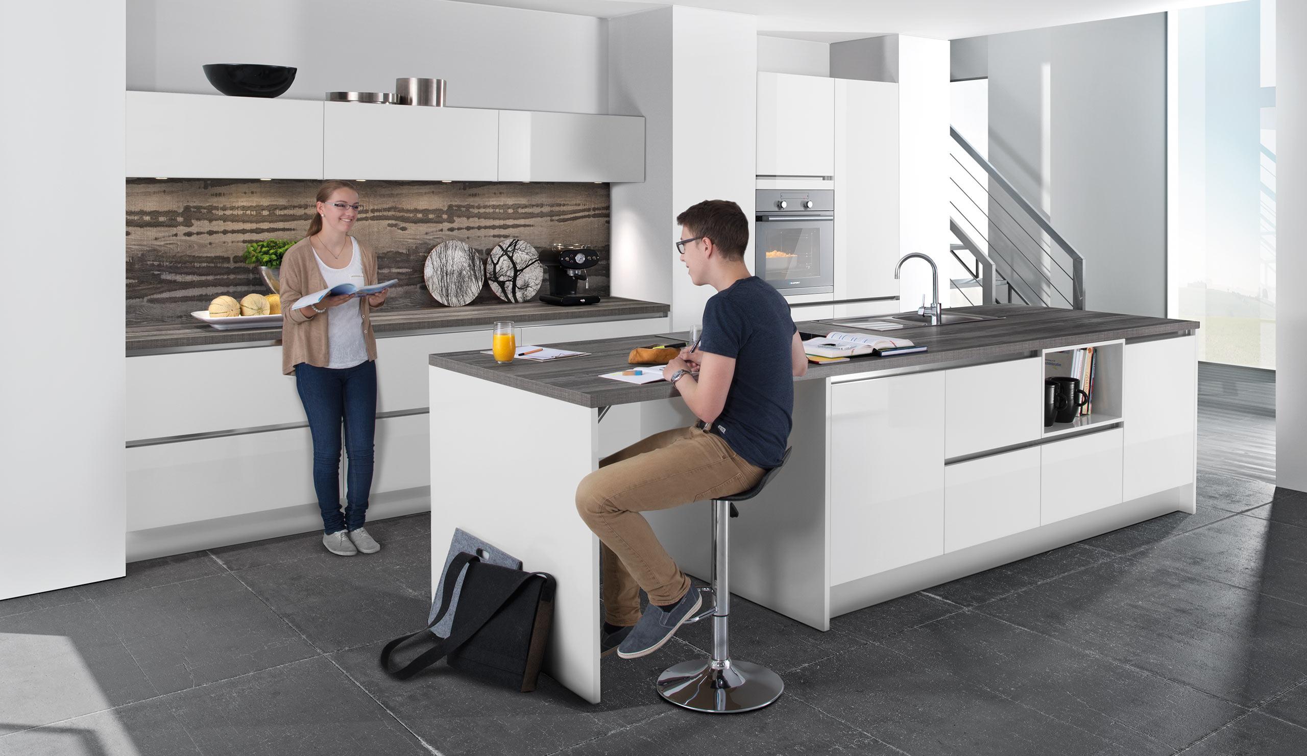 Full Size of Moderne Einbaukche Classica 1230 Weiss Hochglanz Kchenquelle Küchen Regal Wohnzimmer Küchen Quelle